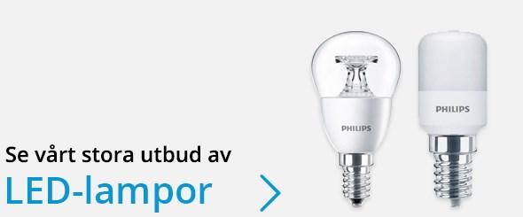 Se vårt sortiment av LED-lampor